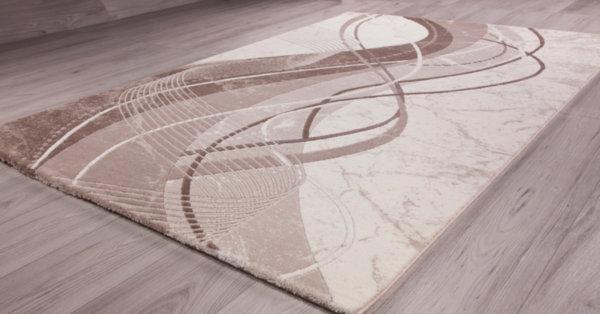 килим талас 0325 бял/пясъчен беж